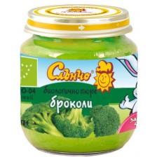 Био зеленчуково пюре Слънчо - Броколи, 130 g -1
