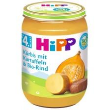 Био ястие Hipp - Картофи, тиква и телешко, 190 g  -1