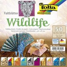 Блокче с цветни хартии за оригами Folia - Дивата природа -1