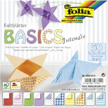 Блокче с цветни хартии за оригами Folia - Basics Intensive -1