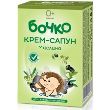 Бебешки крем-сапун Бочко - Маслина, 75 g -1