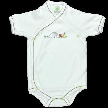 Боди камизолка с къс ръкав For Babies - Таралеж, 50 cm -1