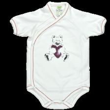 Боди камизолка с къс ръкав For Babies - Мече, 50 cm  -1