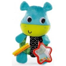 Мека бебешка дрънкалка Bright Starts Grab me Friends - Хипопотамче -1
