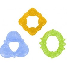 Комплект бебешки гризалки за момче Bright Starts - Chill & Teethe, 3 броя -1
