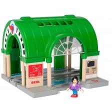 Играчка от дърво Brio World - Централна жп гара -1