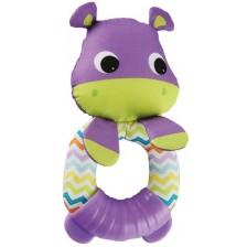 Мека бебешка гризалка Bright Starts - Хипопотамче -1