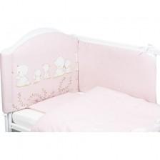 Спален комплект от 6 части Bubaba - Мечета, розов -1