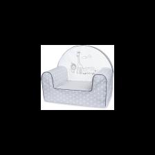 Bubaba Детски фотьойл Сиво сафари -1