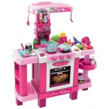 Детска кухня Buba - Розова, с реакция при докосване -1