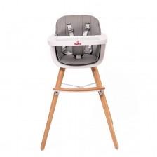Столче за хранене Buba - Carino, сиво
