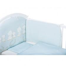 Спален комплект от 6 части Bubaba - Мечета, син -1