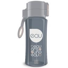 Бутилка за вода Ars Una - Сива, 450 ml -1