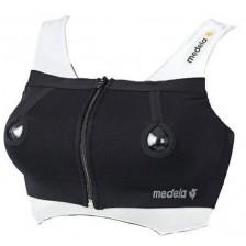 Бюстие за лесно изцеждане Medela - Размер S, черно -1