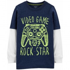 Блуза Carter's - Video game rock star, 4-5 години -1