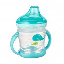 Нетечаща чаша с дръжки Canpol, синя, 230 ml -1