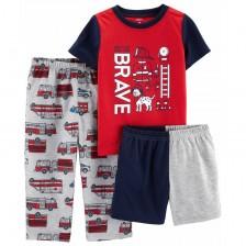 Комплект пижама Carter's - Brave, 3 части, 122 cm, 5-8 години -1