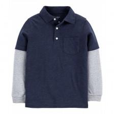 Блуза Carter's - Блуза с яка, размер 7 години, 122 cm -1