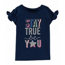 Carter's Тениска 4-8 години Stay true be you -1