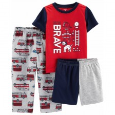 Комплект пижама Carter's - Brave, 3 части, 5-8 години -1