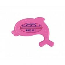 Термометър за баня Canpol - Делфин, розов -1