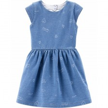 Лятна рокля Carter's - Деним, 4-8 години -1