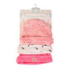 Шапки за бебе Cangaroo - Tibby, розови -1