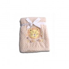 Бебешко одеяло Cangaroo - Freya, бежово -1