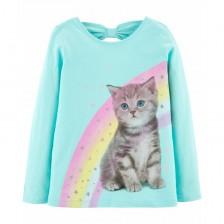 Блуза Carter's - Коте с дъга, Размер 4-8 години -1