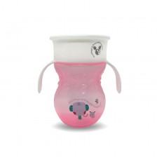 Неразливаща чаша Cangaroo - Magic Cup, 270 ml, розова -1