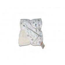 Бебешко одеяло Cangaroo - Shaggy, синьо -1