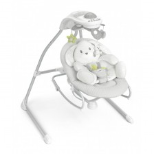 CAM Електрическа бебешка люлка-шезлонг Gironanna Evo col.226 зайче -1