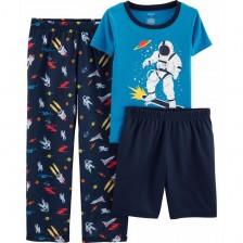 Комплект пижама Carter's - Космос, 3 части, 5-8 години -1