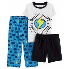 Комплект пижама Carter's - Супергерой, 3 части, 2 - 4 години -1