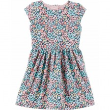 Лятна рокля Carter's - Цветя, 2-5 години -1