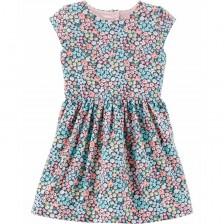 Лятна рокля Carter's - Цветя, 4-8 години -1