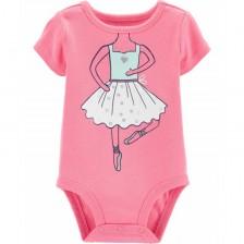 Бебешко боди с къс ръкав Carter's - Балерина -1