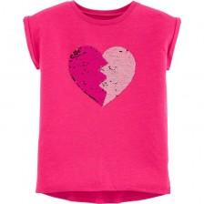 Детска тениска с пайети Carter's - BFF, размер 4-8 години -1