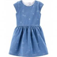 Лятна рокля Carter's - Деним, 2-4 години -1