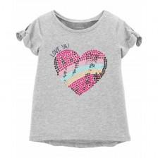 Тениска Carter's - Love ya, 92 cm, 2 години -1