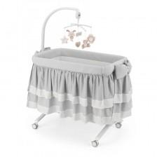 Cam Бебешко легло-люлка Cullami Top col.151 Сива