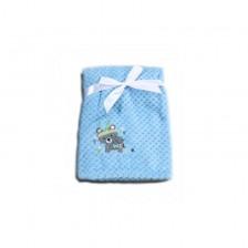 Бебешко одеяло Cangaroo - Freya, синьо -1
