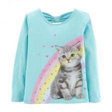 Детска блуза Carter's - Коте, 12-24 месеца -1