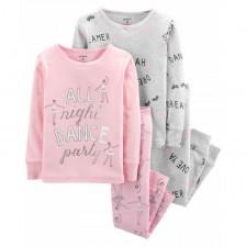 Комплект пижами Carter's - All night dance party, 2 броя, 122 cm, 7 години -1
