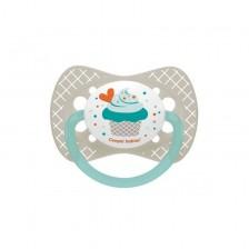 Силиконова залъгалка Canpol Cupcake - 6-18месеца, сива -1