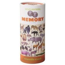 Детска мемори игра Crocodile Creek - Диви животни, 36 части -1