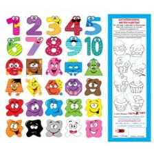 Магнитни цифри, фигури и цветове. За писане, смятане и обучение