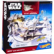 Игрален комплект Hot Wheels Star Wars - Echo Base Battle -1