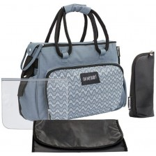 Чанта за количка Badabulle - Boho, сива -1