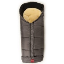 Бебешко чувалче с подложка от овча кожа Kaiser Sheepy - Anthracite -1